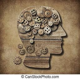 begrepp, psykologi, illustration, 3