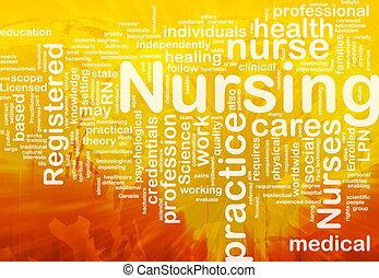 begrepp, sjukvård, bakgrund