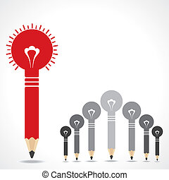 begrepp, skapande, blyertspenna, idé