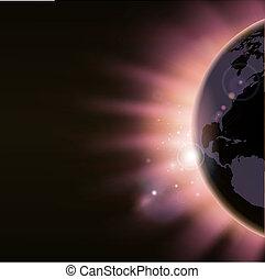 begrepp, soluppgång, bakgrund