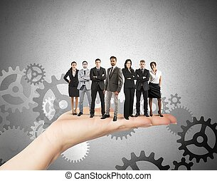 begrepp, teamwork, integration