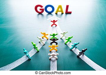 begrepp, teamwork, mål