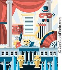 begrepp, teater, ikonen