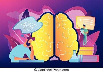 begrepp, vektor, alzheimer, sjukdom, illustration.