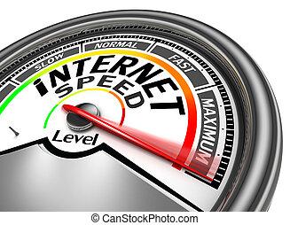 begreppsmässig, hastighet, meter, internet