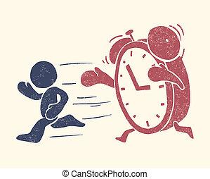 begreppsmässig, illustration, tid