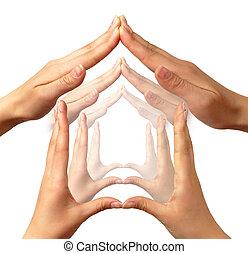 begreppsmässig, symbol, hem