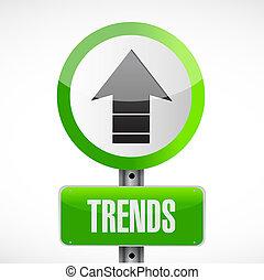 begriff, abbildung, zeichen, trends, design, straße
