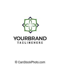 begriff, abstrakt, vektor, design, blume, schablone, logo