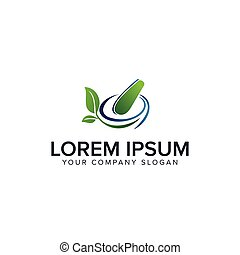 begriff, apotheke, medizinprodukt, design, schablone, kräuter, logo