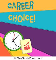 begriff, bedingungen, karriere, text, choice., schreibende, bedeutung, auswahl, einzelheit, pfad, handschrift, berufung, oder, career.