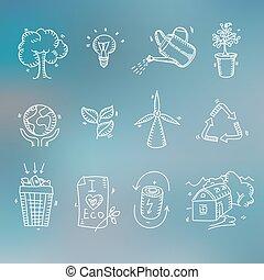 begriff, bio, skizze, ökologie, organische , heiligenbilder,...