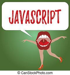 begriff, computersprache, javascript., text, schaffen, programmierung, bedeutung, gebraucht, effekte, handschrift, interaktiv