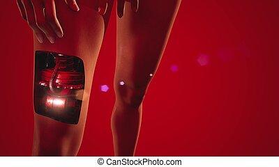 begriff, cyborg, roboter, humanoid, woman., zukunftsidee