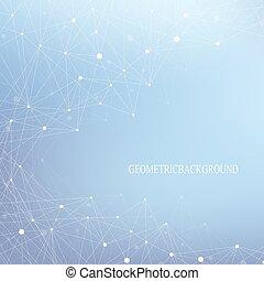 begriff, dns, hintergrund., dots., system., kommunikation, medizin, atom, molekül, linien, hintergrund., vektor, verbunden, nervös, illustration., neurons., illusion, struktur, wissenschaftlich