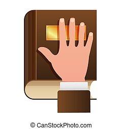 begriff, eid, verfassung, ikone, hand