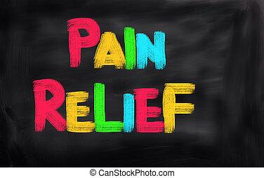 begriff, entlastung schmerzen