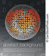 begriff, eps10, geschäftsillustration, plakat, global, vektor, design