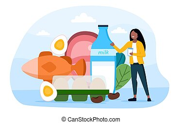 begriff, essende, gesunde