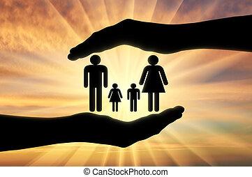 begriff, familie, schutz