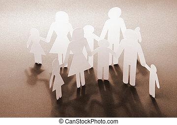 begriff, familien, glücklich
