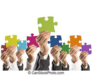 begriff, gemeinschaftsarbeit, integration