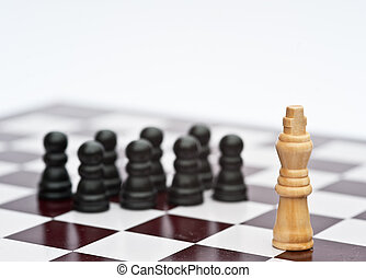 begriff, geschäftsstrategie, anwendung, spiel, schach