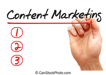 begriff, geschaeftswelt, marketing, schreibende, zufriedene , liste, hand