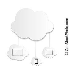 begriff, geschaeftswelt, rechnen, abbildung, vektor, wolke
