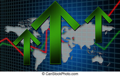 begriff, global, wachstum, finanziell