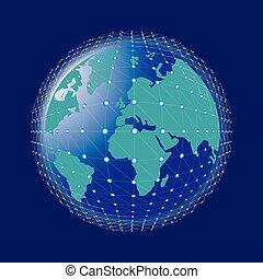 begriff, globales geschäft, internet