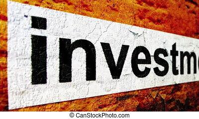 begriff, grunge, investition