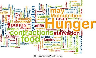 begriff, hintergrund, hunger