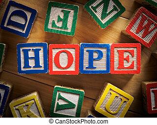 begriff, hoffnung