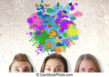 begriff, idee, geschaeftswelt, kreativ