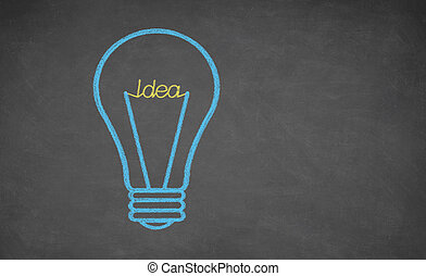 begriff, -, idee, glühlampe