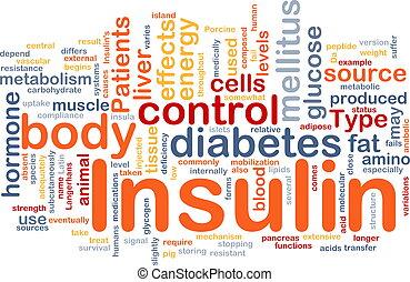 begriff, insulin, hintergrund, zuckerkrankheit