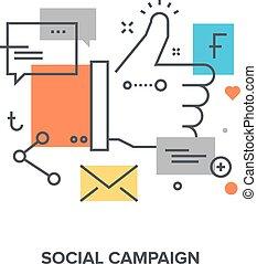 begriff, kampagne, sozial