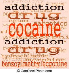 begriff, kokain, hintergrund