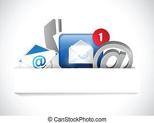 begriff, kommunikation, uns, kontakt, tasche, papier