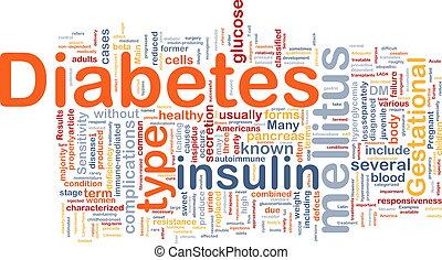 begriff, krankheit, hintergrund, zuckerkrankheit