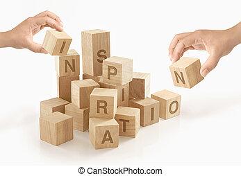 begriff, &, kreativität, freigestellt, hintergrund., inspiration