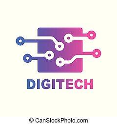 begriff, logo., emblem, kreativ, design, schablone, digital,...