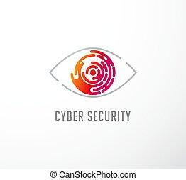 begriff, logo, technologie, auge, ikone