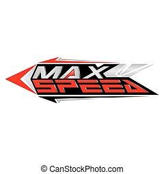 begriff, maximum, vektor, geschwindigkeit