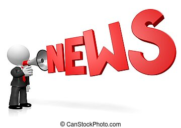 begriff, megaphone/news, 3d
