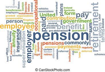 begriff, pension, hintergrund