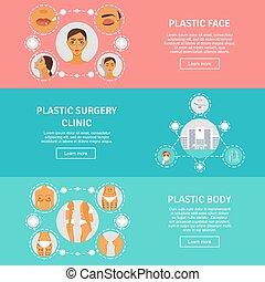 begriff, plastik, satz, chirurgie, horizontale banner