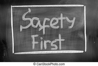 begriff, sicherheit zuerst
