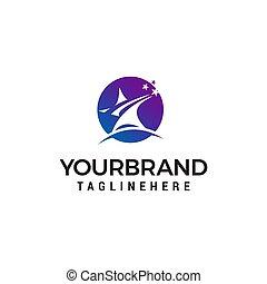 begriff, stern, abstrakt, vektor, design, schablone, logo